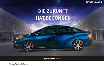 TOYOTA Magazin, Website. Referenzen CE WebDesign München
